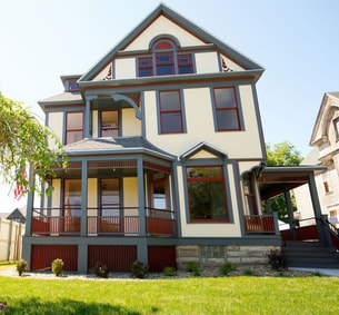 Judge Platt house, historical renovation, 515 East Third Street, Waterloo, Iowa, restored