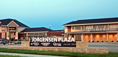 Western Home Communities Jorgensen Plaza with Grosse Aquatic Center, Diamond Event Center, and Table 1912 - Cedar Falls, Iowa