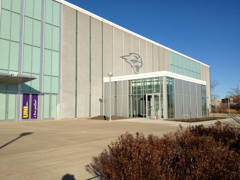 McLeod Center, Ticket entrance at UNI, University of Northern Iowa, Cedar Falls, Iowa