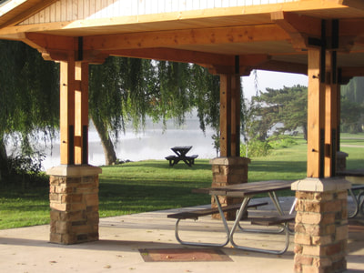 Kohlmann Park shelter, Waverly, Iowa